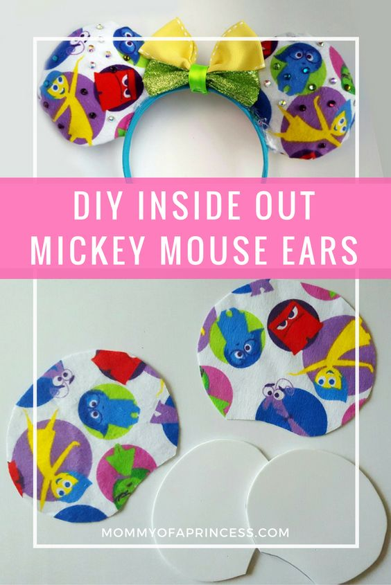 DIY Inside Out Mickey Ears