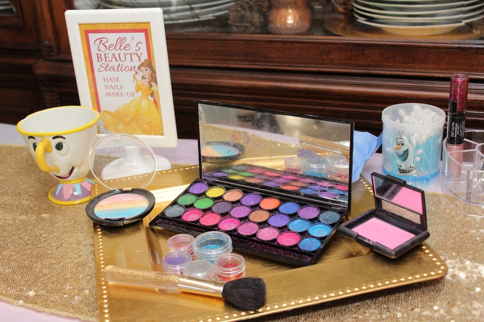 Belle Birthday Party Beauty Station