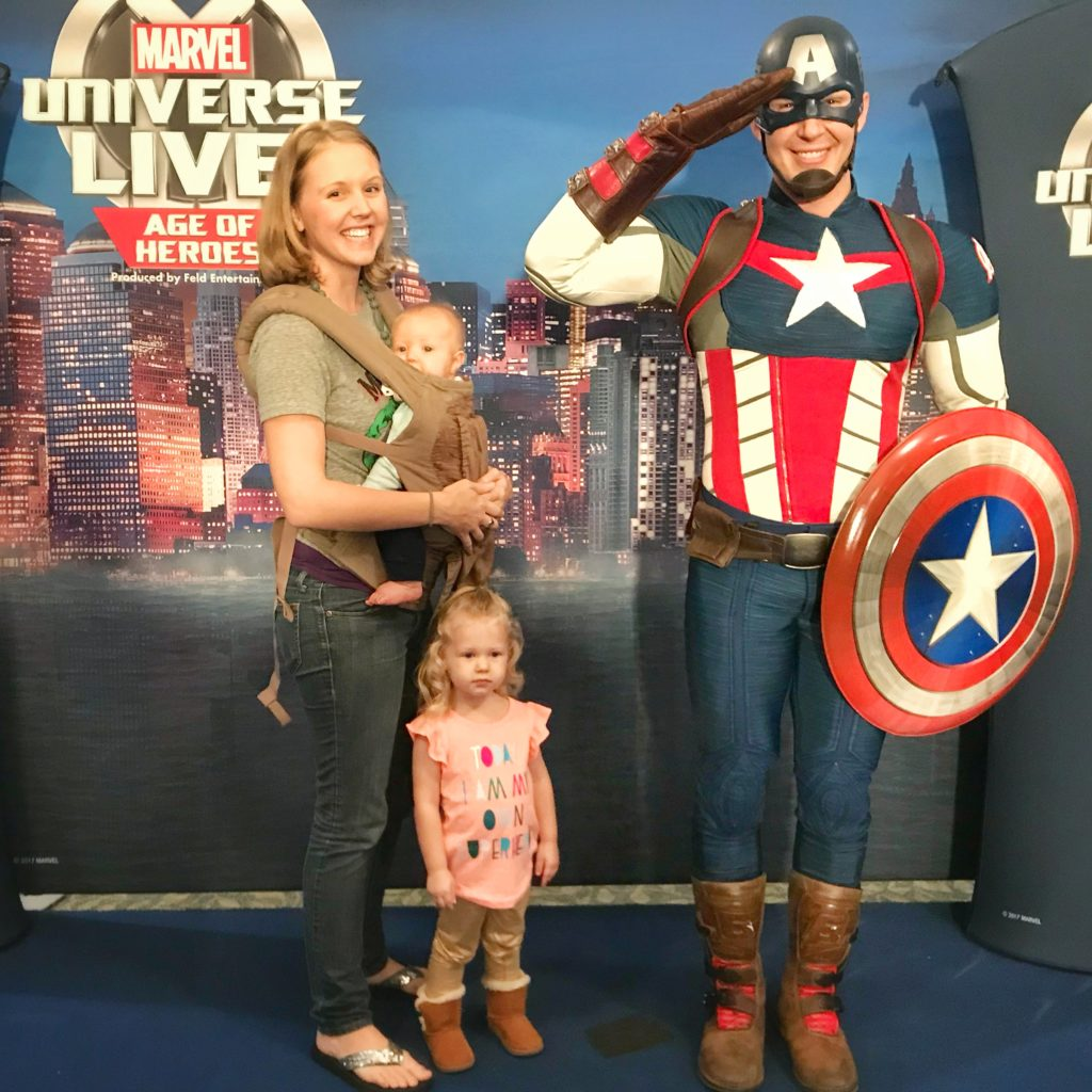 Meeting Captain America Marvel Universe Live