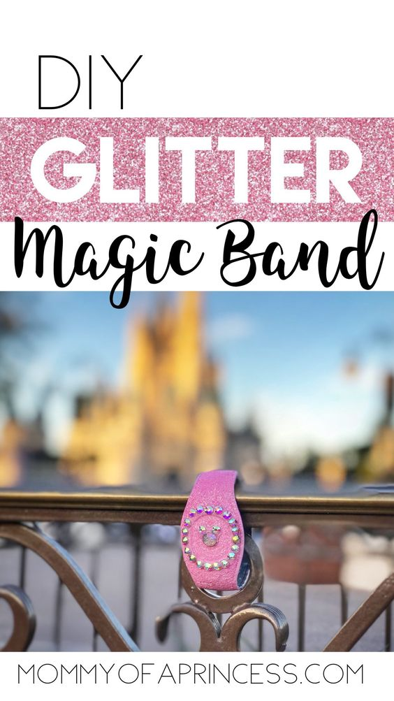 7 Easy Steps How To Decorate Magic Bands With Glitter