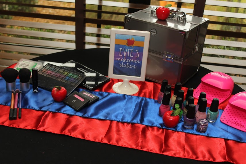 Evie's Makeover Station Descendants Birthday Party Ideas