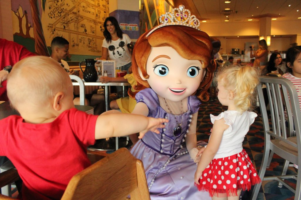 Meeting princesses at disney world