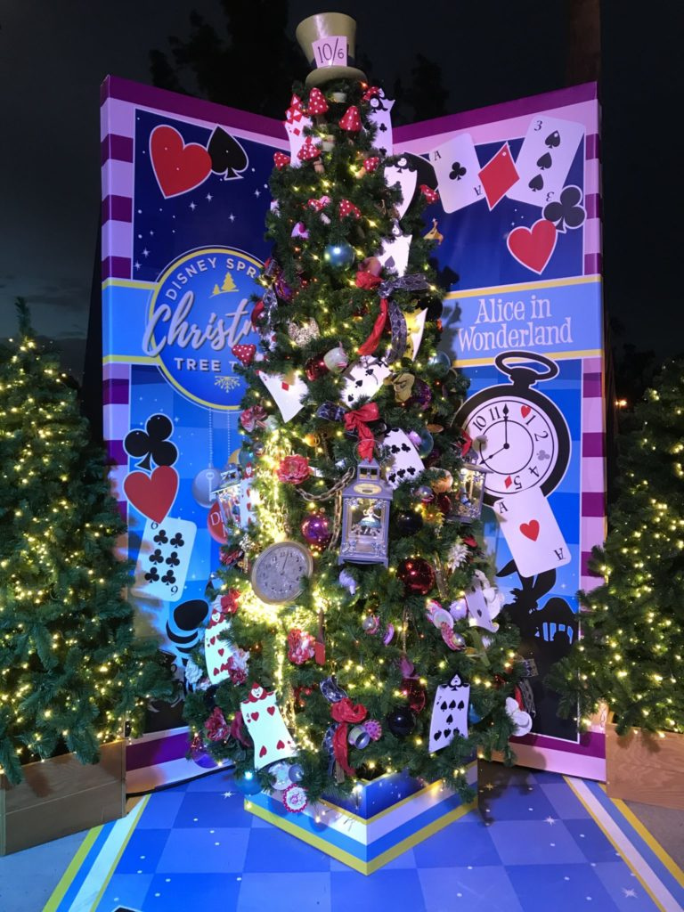 Alice in Wonderland Disney Christmas Tree Trail at Disney Springs