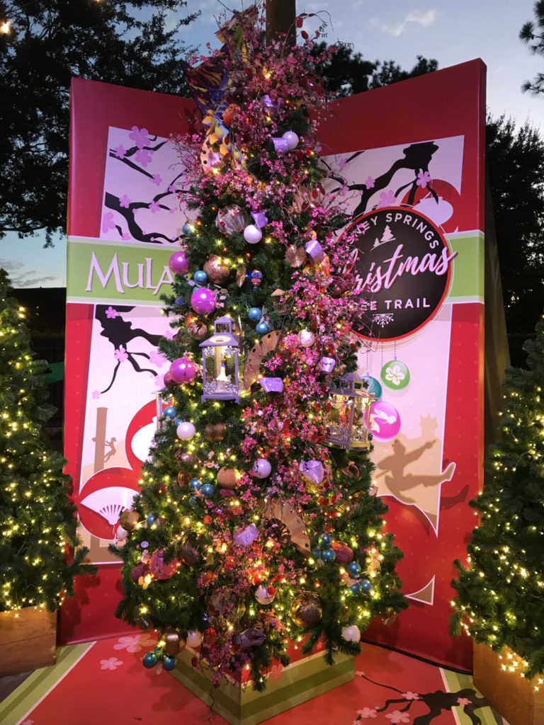 Mulan Disney Christmas Tree Trail at Disney Springs