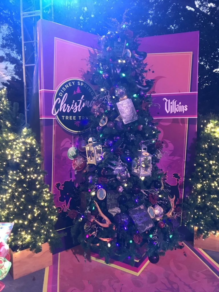 Villains Disney Christmas Tree Trail at Disney Springs