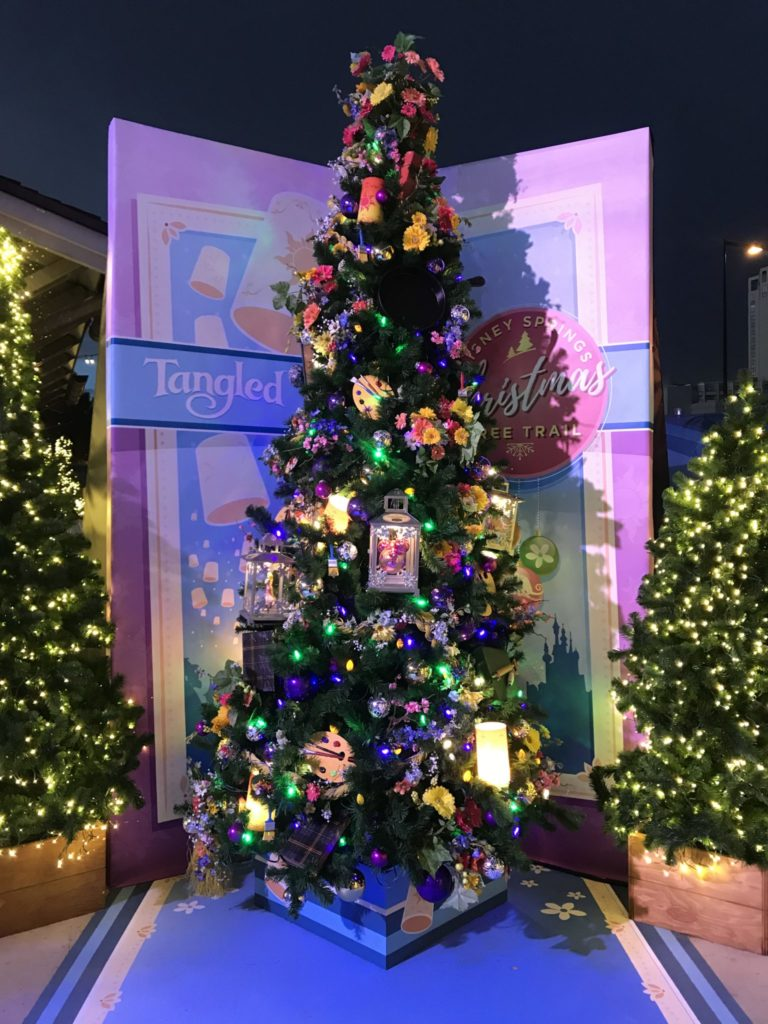 Tangled Disney Christmas Tree Trail at Disney Springs