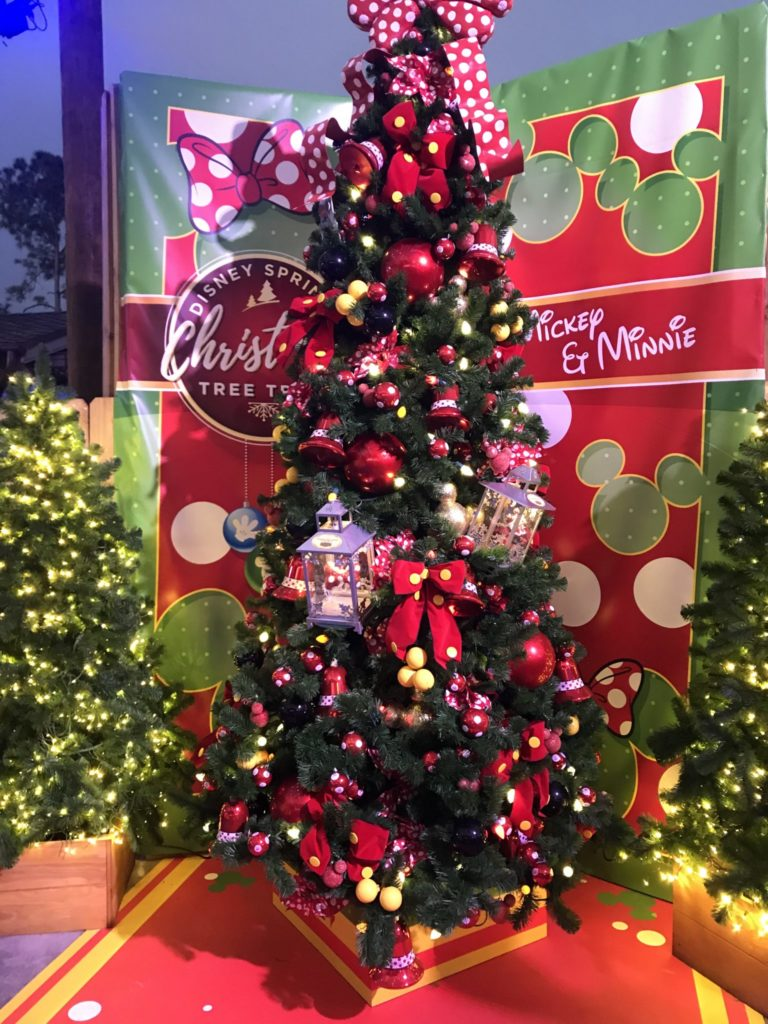 Mickey at Minnie Disney Christmas Tree Trail at Disney Springs