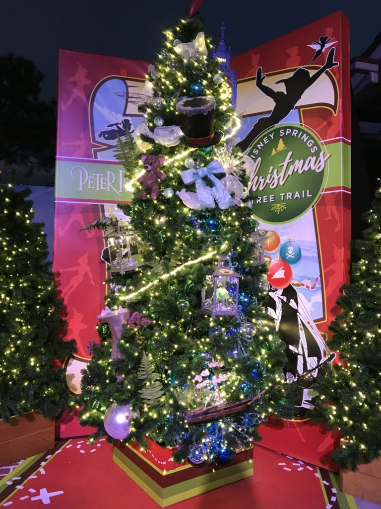 Peter Pan Disney Christmas Tree Trail at Disney Springs