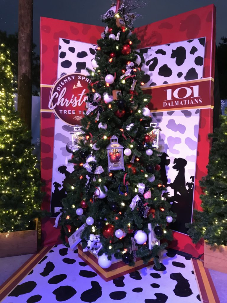 101 Dalmatians Disney Christmas Tree Trail at Disney Springs
