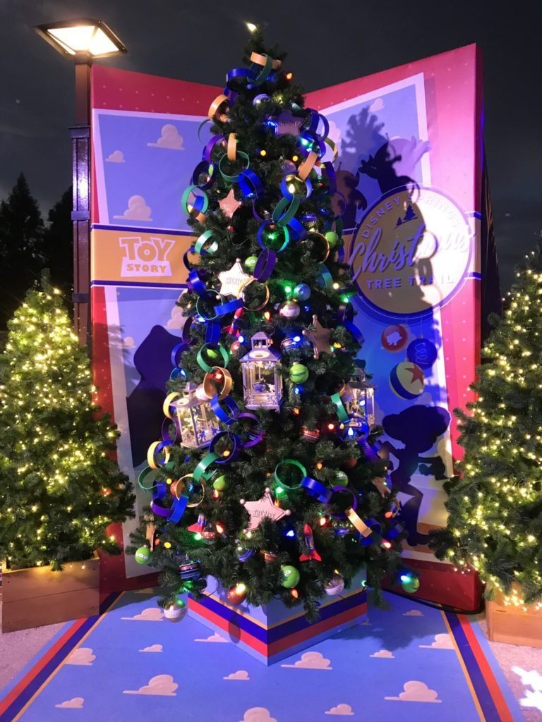 Toy Story Disney Christmas Tree Trail at Disney Springs