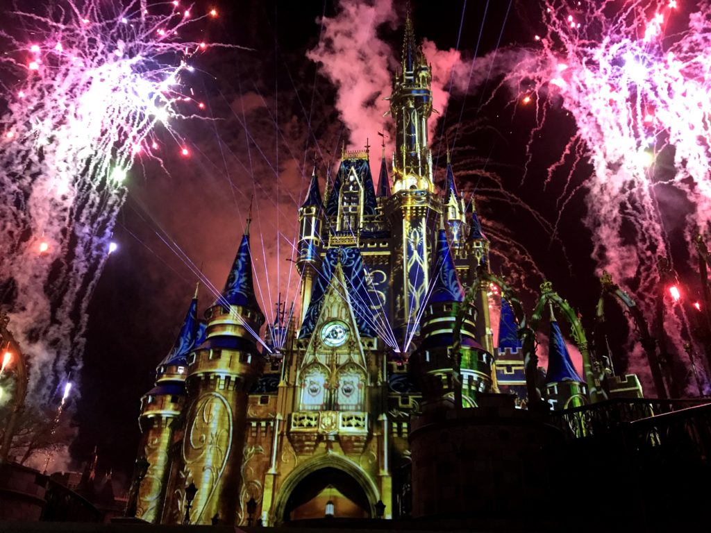 Watching Happily Ever After Fireworks at Magic Kingdom