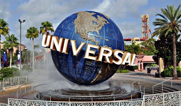 Universal Studios with baby