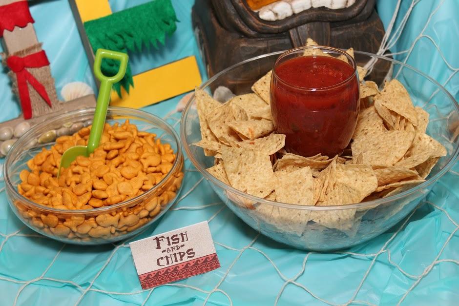 Moana Themed Party Foods
