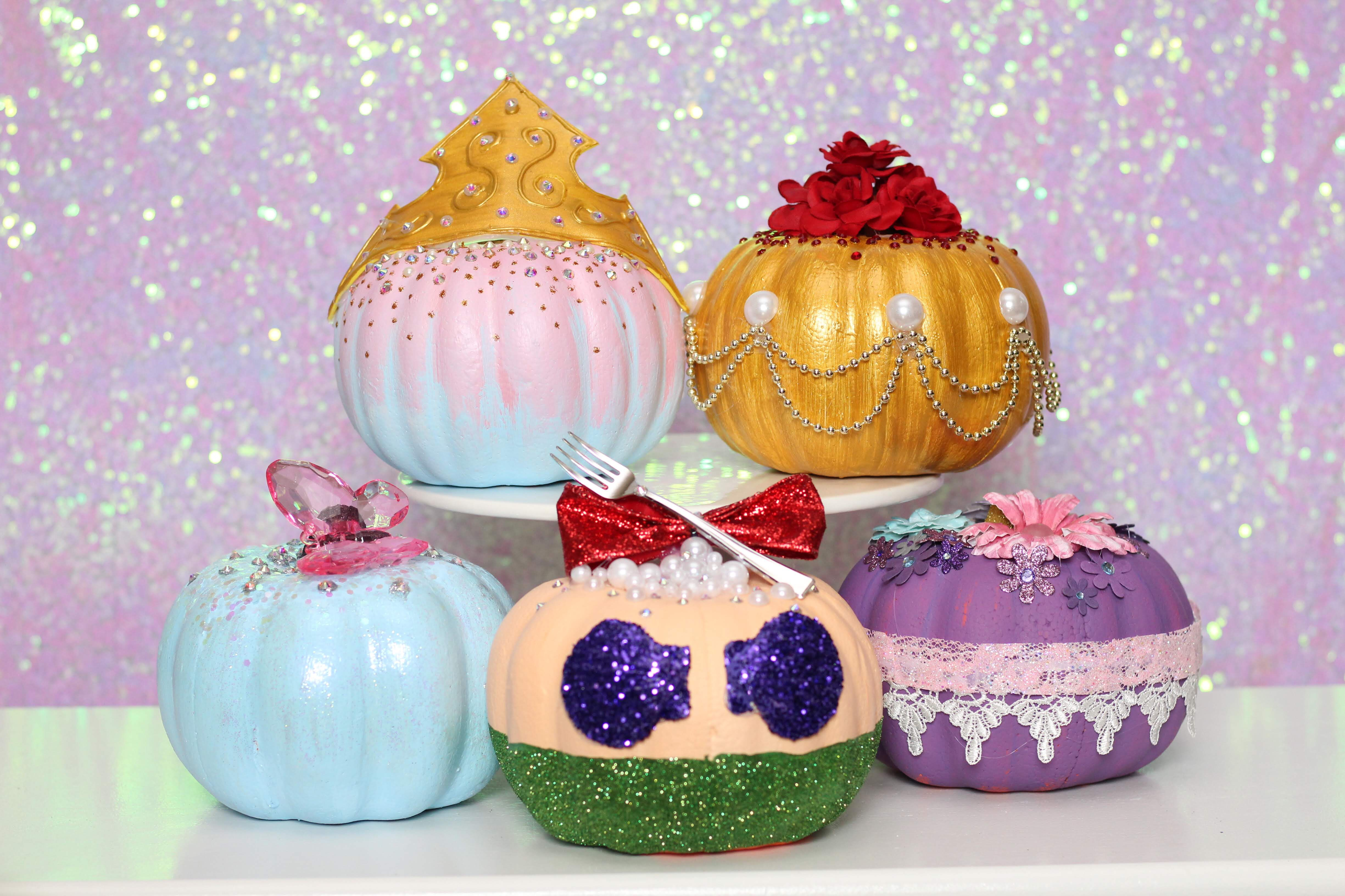 Disney Princess Pumpkins No Carve Dollar Tree Pumpkin Ideas