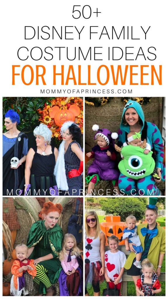 Family Of 4 Halloween Costumes 2019.Disney Family Halloween Costumes 50 Disney Costume Diy Ideas