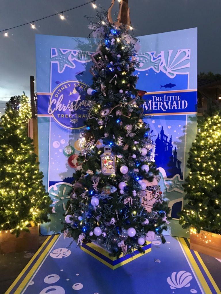 Little Mermaid Disney Christmas Tree Trail at Disney Springs