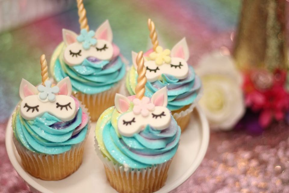 Unicorn Spa Party Cupcakes