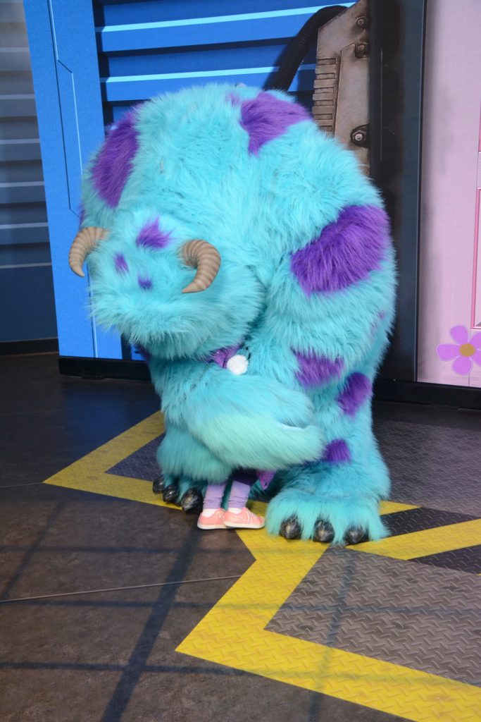 Meeting Monsters Inc Characters at Disney