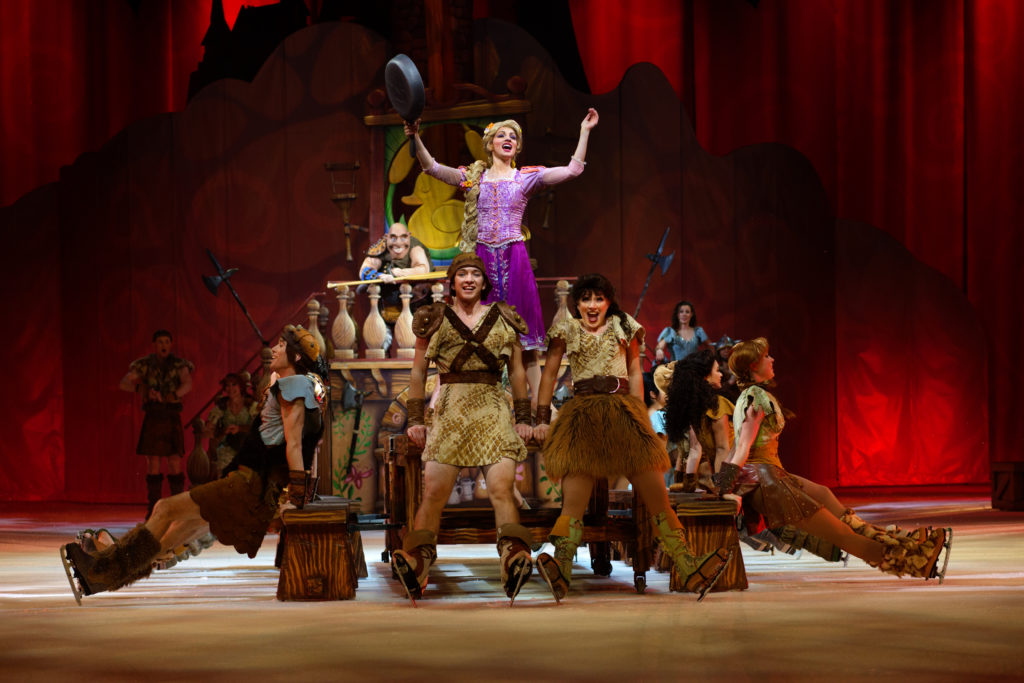 Disney on Ice with kids Dare to Dream Rapunzel