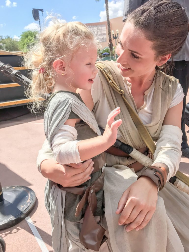 Meeting Rey at Hollywood Studios