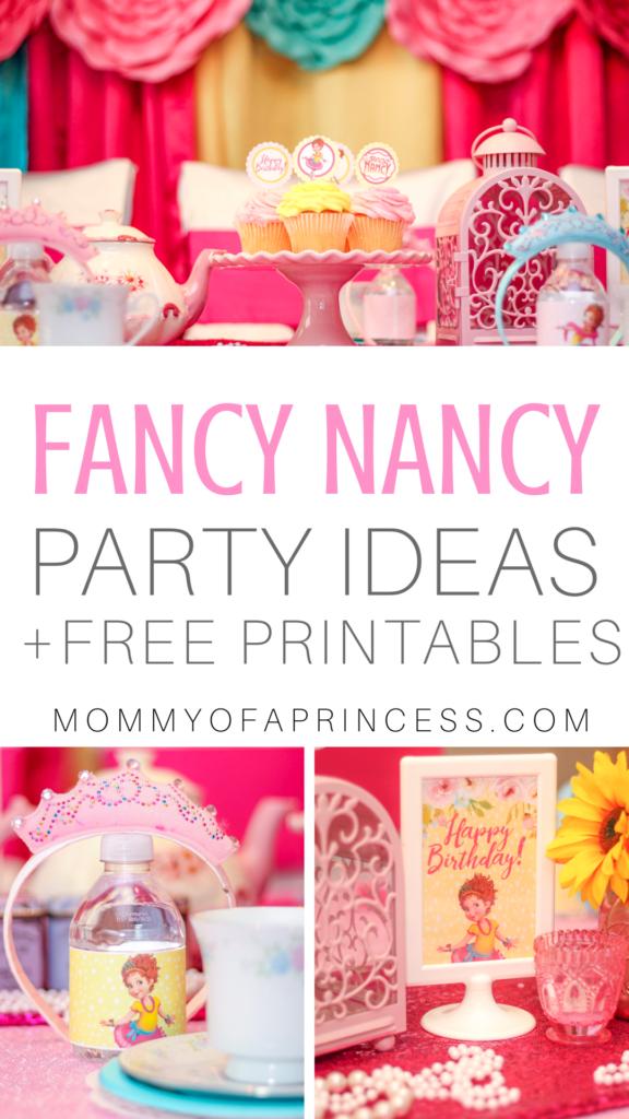Fancy Nancy Birthday Ideas Free Party Printables