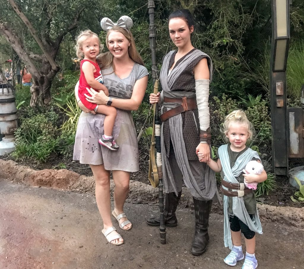 Meeting Rey at Hollywood Studios Galaxy's Edge