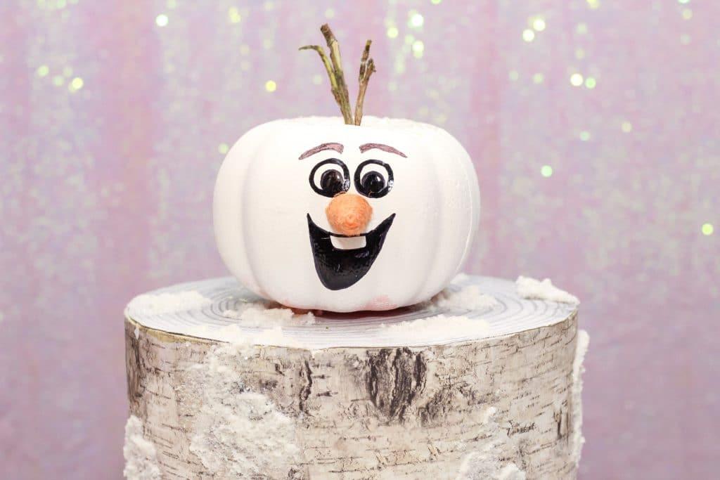 How to Make Olaf Frozen Pumpkin