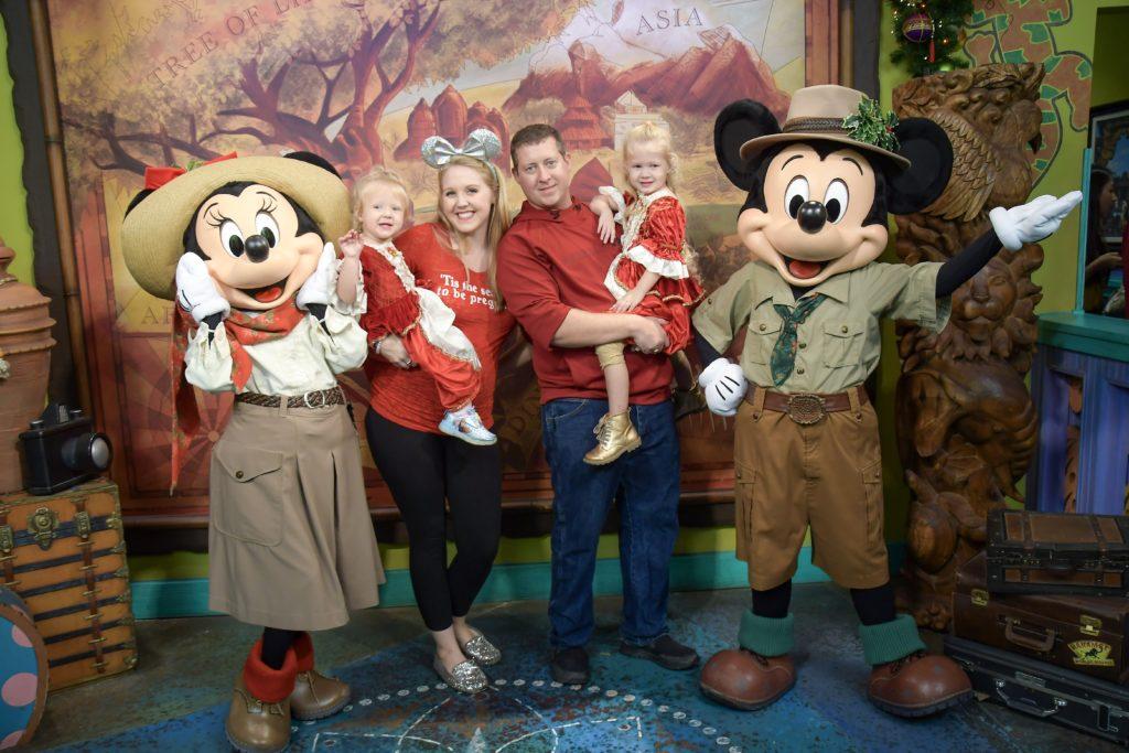 Christmas at Animal Kingdom Meeting Minnie and Mickey